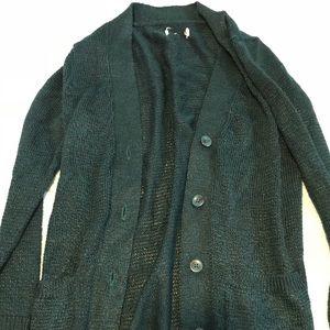 Sweaters - Beautiful dark green buttoned cardigan.